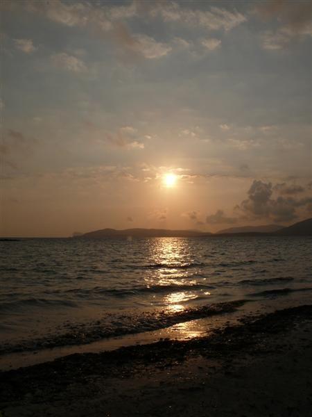Sonnenuntergang am Strand von Alghero